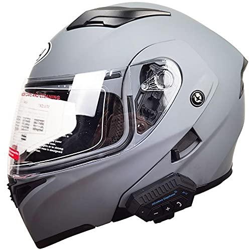 Cascos Modulares Abatibles Al Frente Hombres Mujeres Motocicleta Casco Bluetooth Casco Completo Auriculares Bluetooth Aprobados ECE Con Micrófono Para Respuesta Automática 3,M