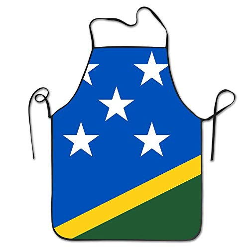N\A Salomonen Flaggen der Länder Latzschürze - Langlebig, Schnur verstellbar, maschinenwaschbar, komfortabel, leicht zu pflegen