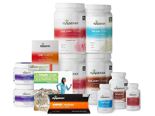 Isagenix 30 Day Weight Loss System with 2 Strawberry Cream, 2 Creamy...