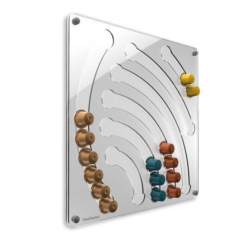 Nespresso Kapselhalter, Wand, transparent, Design Wasserfall Kapselspender
