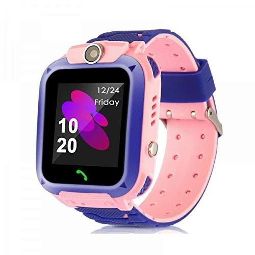 Kinder Smartwatch wasserdicht Micoke Touchscreen Mobile Smartwatch fur Madchen Jungen SOS Call SIM Karte Smartwatch mit Kamera Spiel fur Kinder Geburtstag Urlaub Pink