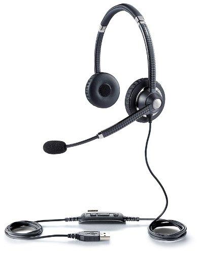 Jabra UC VOICE 750 MS Duo (Dark) Lync Optimized Corded Headset for Softphone