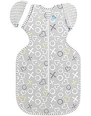 【スワドルアップ Swaddle Up】 トランジションバッグ・バンブーライト(夏用/寝返り後)(グレーXOXO, Medium)赤ちゃんの夜泣き対策に奇跡のおくるみ[日本正規輸入品]出産準備・出産祝い・ベビーグッズ・ネントレ (グレーXOXO, Medium)