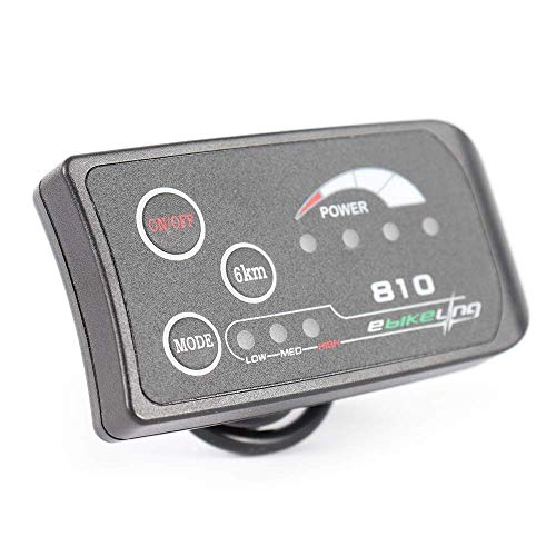 EBIKELING 36V/48V Waterproof 810 LED Electric Bicycle Display Controller (36V)