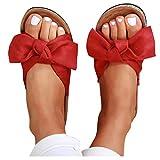 Aniywn Platform Wedges Slipper for Women Summer Bow Open Toe Sandals Flip Flops Beach Slippers