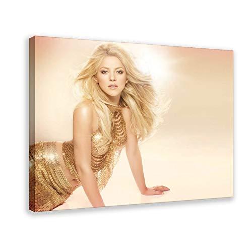 Shakira Isabel Mebarak Ripoll schöne sexy berühmte Sänger-Figur Gemälde Kunstdruck Poster 3 Leinwand Poster Schlafzimmer Dekor Sport Landschaft Büro Zimmer Dekor Geschenk Rahmen Stil 30 × 90 cm