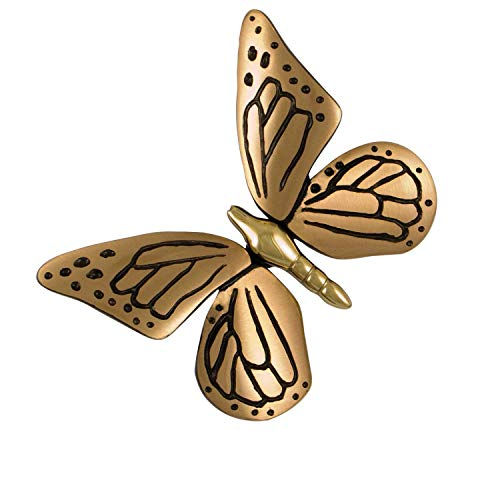 Monarch Butterfly Door Knocker - Brass/Bronze (Premium Size)