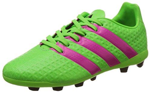Adidas Ace 16.4 Fxg J Scarpe da calcio allenamento, Bambini e ragazzi, Multicolore (Verde / Rosa / Negro (Versol / Rosimp / Negbas)), 36 2/3