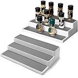 NZBZ Estante para especias de 3 capas, armario de almacenamiento antideslizante para armarios de cocina
