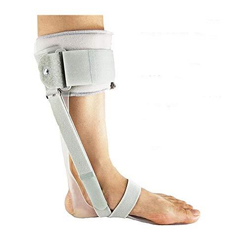 FIRECLUB 足首サポーター 足首骨折 足ドロップ装具 医療用フットケア内外装具 脳卒中片麻痺のリハビリのための機器 足首関節固定 サポーター (グレーの左足, S)
