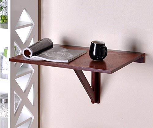 MJYY Tisch Schreibtisch Computertisch Kindertisch Klapptische Wandbehang Einfacher Haushalt Wand-Esstisch Beistelltisch 60 * 40Cm Weiß Honigfarbe,Honigfarbe