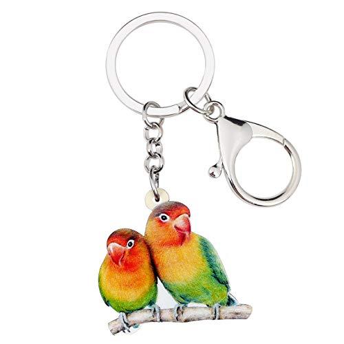 Weveni Schlüsselanhänger aus Acryl, Motiv: Afrika, Papagei, Vogel, Schlüsselanhänger für Frauen und Mädchen, für Tasche, Auto