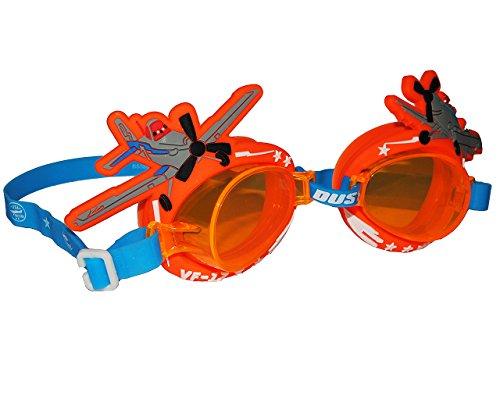 Unbekannt 3-D _ Schwimmbrille / Taucherbrille / Chlorbrille -  Disney Planes - Dusty  - Kinder von 2 bis 12 Jahre - verstellbar / wasserdicht & Anti Beschlag - Jungen..