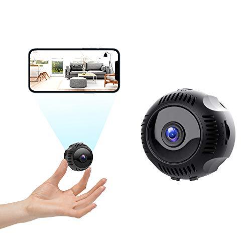 Telecamera Spia Nascosta Wifi, TESECU HD 1080P Telecamera wi-fi Interno con Visione Notturna, Rilevamento di Movimento Videocamera Sorveglianza Microcamere con 160° Grandangolo per Esterno/Interno