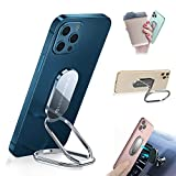 Foldable Cell Phone Stand for Desk, Adjustable Cellphone Ring Holder Finger Kickstand for Office Desktop & Magnetic Car Mount, Rotatable Multi-Angle Hand Grip for iPhone 13 and Smartphones Back Case