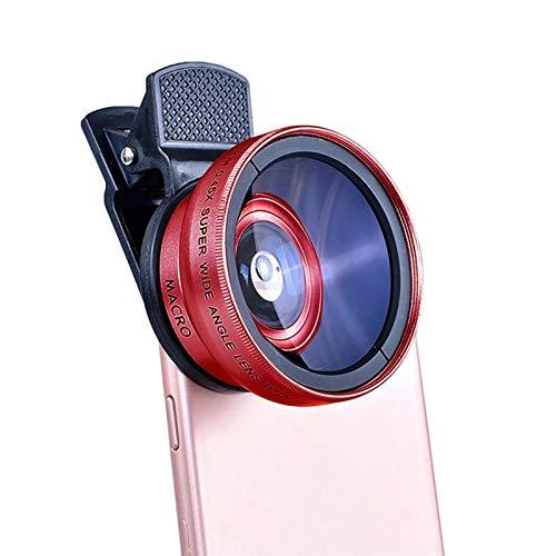 Kit de lentes de cámara de teléfono celular 2 en 1 Lente Clip Universal 37mm Lente de teléfono móvil Profesional 0.45x 49UV Super de gran angular + Macro HD Lens para iPhone Android ( Color : C )