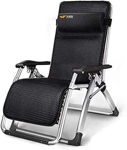 Patio Lounger Chair Zero Gravity Sedia reclinabile, Pieghevole Lettino con Cuscino e portabicchieri per PARIO PRYN Deck Home Soon SEDUT Seduto 440LBS, WQQWQQ-8521.