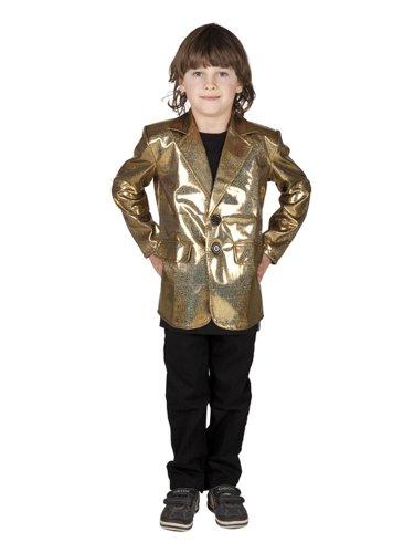 Boland Veste Disco Or Enfant Taille : 4/6 ans (102 à 114 cm)