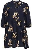 Only Carmakoma CARNEWMARRAKESH 3/4 Tunic Dress Vestido, Azul Oscuro/AOP: Flor...