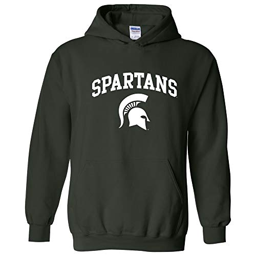 AH03 - Michigan State Spartans Arch Logo Hoodie - X-Large - Forest Green