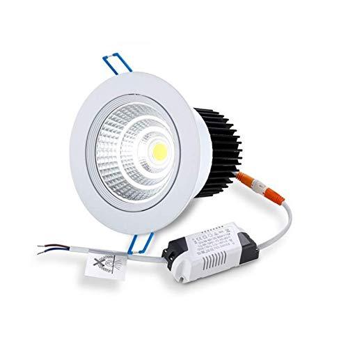 BJClight Lámpara de pared para interiores, Mini empotrable de 2,6 pulgadas 3W Downlights Techo recortado 50-60mm AC 85-265V Focos pequeños BJC giratorio ajustable