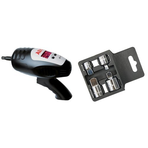 AEG 005043 Clé à Choc Démonte-Roues 12 V et Silverline 793755 Jeu d'augmentateurs et réducteurs 4 pièces