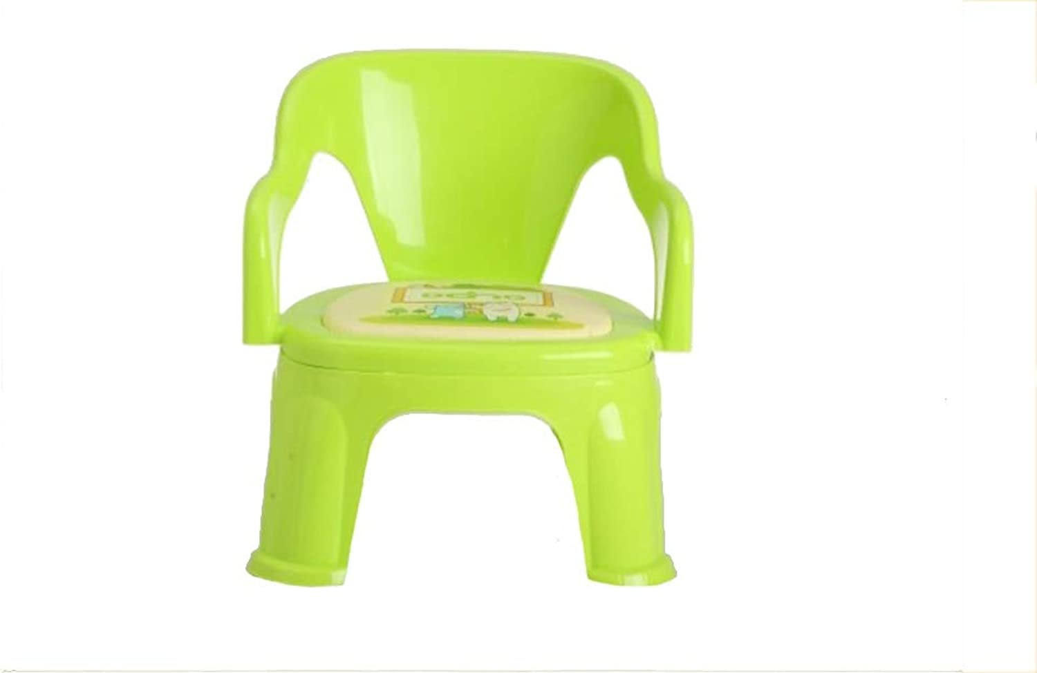 JUN Baby is Called A Chair Plastic Chair Small Bench 38  32  19cm (color   Green)