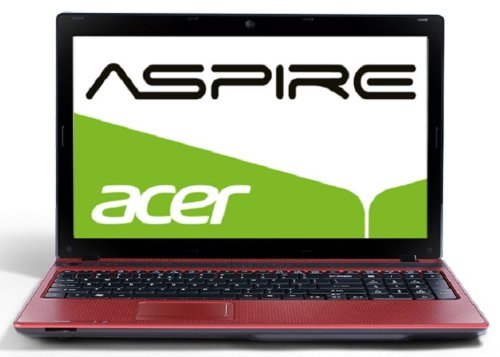 Acer Aspire 5742G-374G32Mnrr 39,6 cm (15,6 Zoll) Laptop (Intel Core i3 370M, 2,4GHz, 4GB RAM, 320GB HDD, ATI HD5470, DVD, Win 7) rot