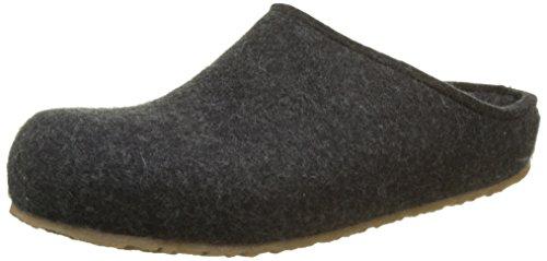 HAFLINGER Unisex-Erwachsene Grizzly Michl Pantoffeln, Grau (Graphit 377), 43 EU