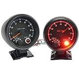 Contagiri universale nero per auto, 8000 giri/min, contatore con luce LED rossa, adatto per auto a benzina a 4/6/8 cilindri