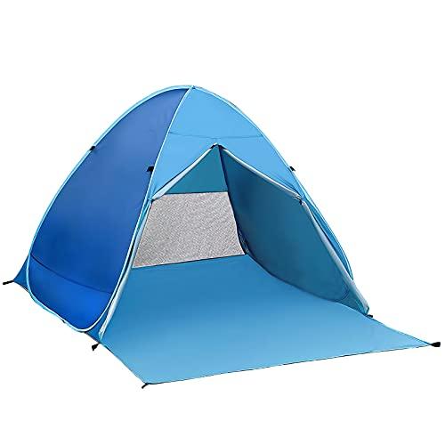 Tienda de playa para 2 personas, tienda de playa, protección solar, fácil ajuste, tienda de playa Pop Up, tienda impermeable para 2 personas, para camping, exterior y viaje