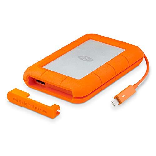 LaCie Rugged Thunderbolt, Unidad de disco externa, USB 3.0, Naranja / Gris, 2 TB