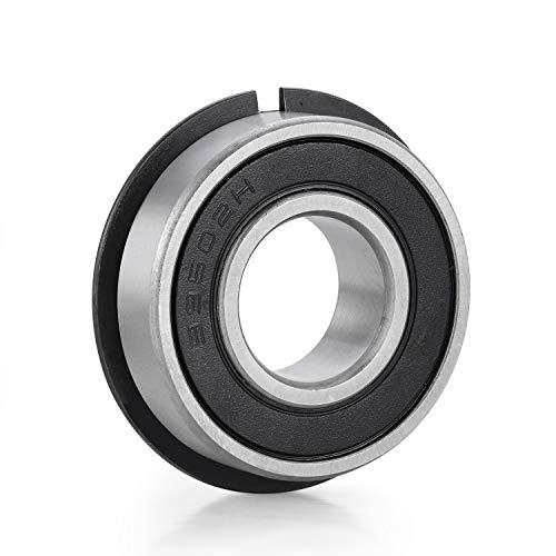 4Pack 99502HNR Ball Bearing 5/8 Bearing Precision Ball Bearings Double Seal Snap Ring and Pre-Lubricated Bike Bearings Replacement for Go Kart Mini Bike Lawn Mowe Motor ID 5/8