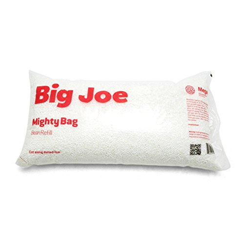 Big Joe Comfort Research Megahh (UltimaX) Bean Bags Refill, 100 L, White -