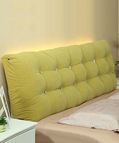 NYDZDM matraskussen van katoen, zachte hoofdsteun op het bed, grote kussens, voor tweepersoonsbed deelbaar, compleet/groot/extra groot 160 * 15 * 58cm Groen