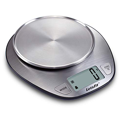 Letsfit Food Scale, Digital Kitchen Scale Weight Grams and Oz, LCD Screen Display and Stainless...