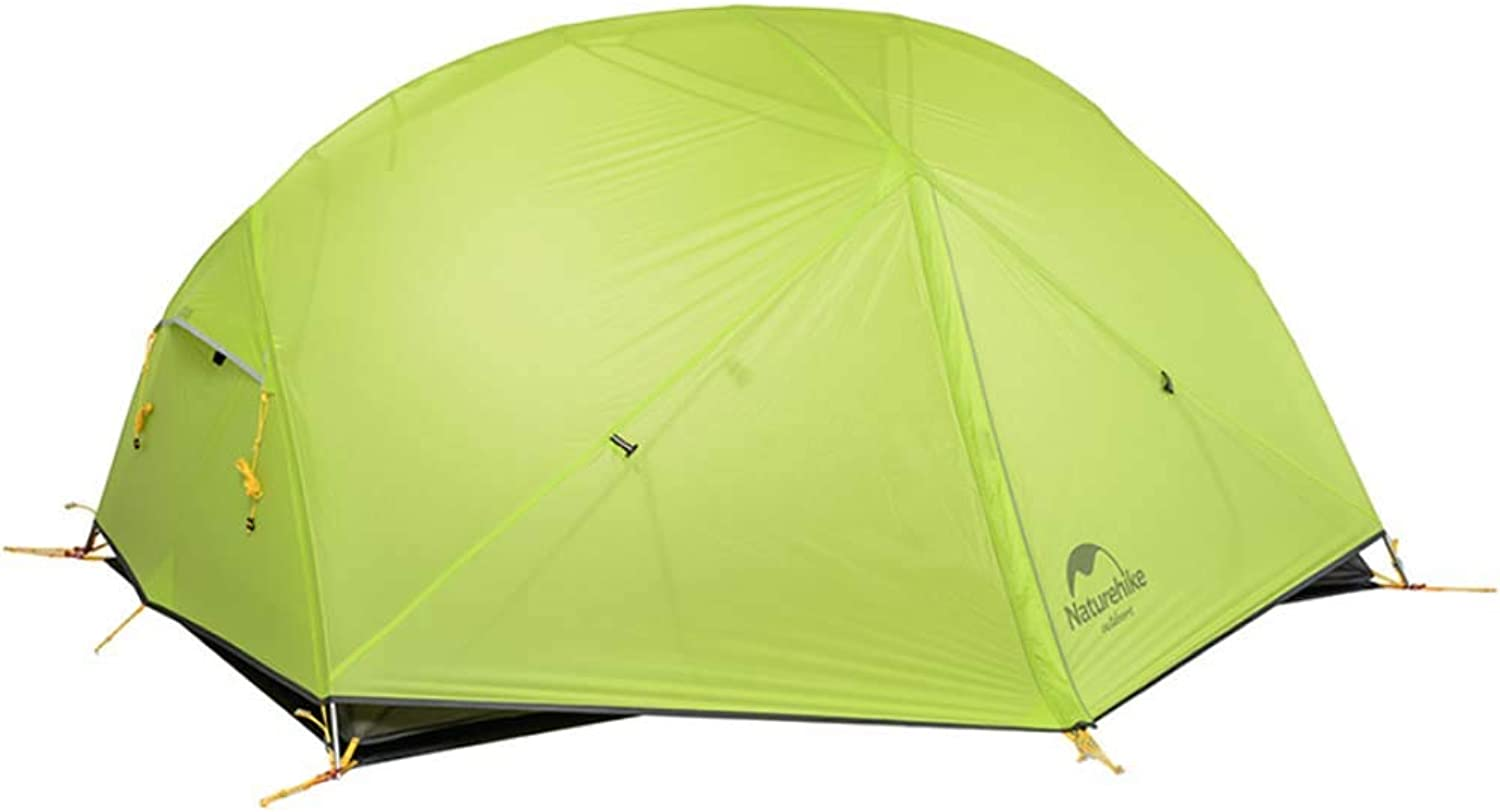 Ultralight Camping 2 Person Tent Windproof and Rainproof Outdoor Camping Tent Waterproof Double Layer Tourism Tents for Outdoor Recreation Beach with Free Mat