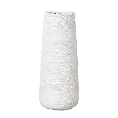 Hetoco 30cm Blanco Decorativos Modernos Ceramica Jarrones de Flores para Mesa de Comedor Sala de Estar Idea Regalo para Cumpleaños Boda Navidad