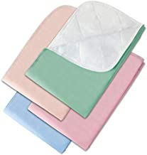 """Incontinence Bed Pads - 4 Pack 18"""" x 24"""" Reusable Waterproof Mattress Protectors - Highly Absorbent, Machine Washable - for Children, Pets and Seniors - Assorted Colors - Made in USA - Royal CAE"""
