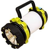 マルチLEDライト USB 充電式 懐中電灯 ランタン 緊急 災害 100ワット 8000ルーメン