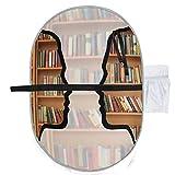 Uomini divertenti Silhouette del cervello con libri Fasciatoi da viaggio Fasciatoio da via...