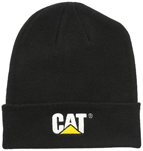 Caterpillar Men's Trademark Cuff Beanie, Black, OS