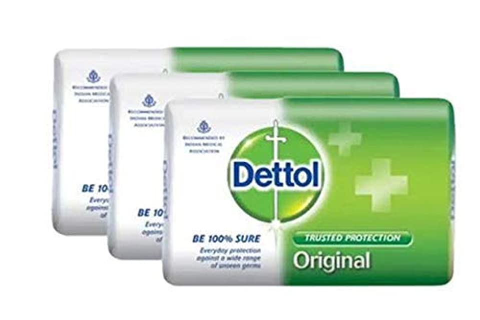 知らせる平手打ち別にDettol 固形石鹸オリジナル3x105g-は、信頼Dettol保護から目に見えない細菌の広い範囲を提供しています。これは、皮膚の衛生と清潔を浄化し、保護します