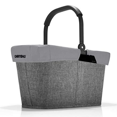 reisenthel Angebot Einkaufskorb carrybag Plus passendes Cover Sichtschutz Abdeckung (Twist Silver Reflective)
