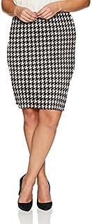Star Vixen Women's Knee Length Classic Stretch Ponte Knit Pencil Skirt Skirt