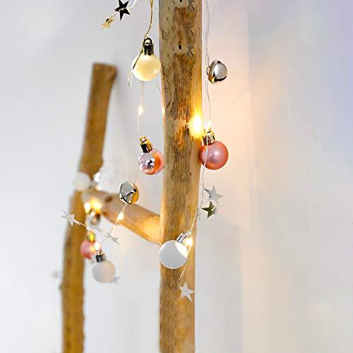 G-TASTE Luces de cadena LED Bola redonda Decoración de campana de Navidad Estrellas Luz de hadas Luces de cadena...