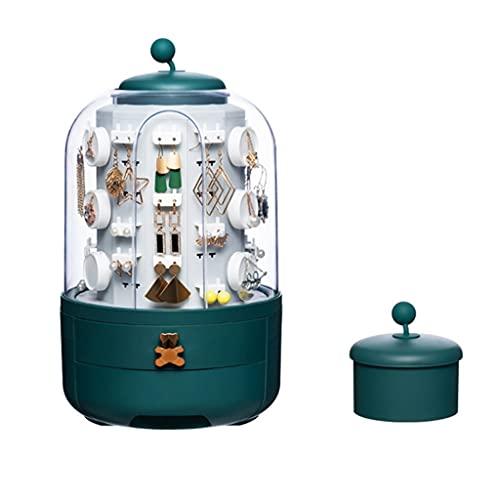 Joyero – Organizador de joyas multiusos giratorio 360 con soporte para exhibición