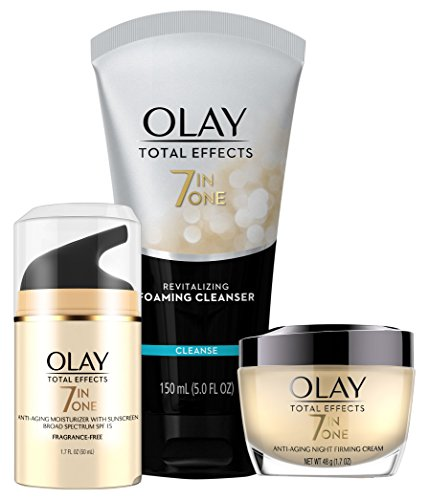 41gv6DuyelL - Face Wash by Olay Total Effects Day to Night Anti-Aging Skincare Kit with Cleanser, SPF & Night Cream