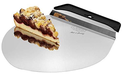 Lares - Kuchen- und Pizzalöser mit Griff, rund - Tortenheber/Pizzaheber - 28cm Ø, Edelstahl - Made in Germay