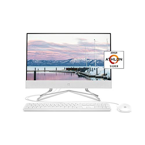 HP 22-inch All-in-One Desktop Computer, AMD Athlon Silver 3050U Processor, 4 GB RAM, 256 GB SSD, Windows 10 Home (22-dd0010, White), Snow White. Buy it now for 479.00